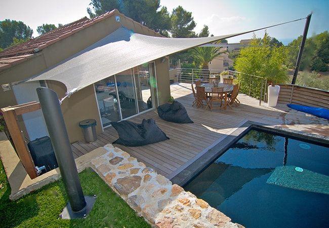 voile jardin piscine à Saint-Jean-Cap-Ferrat France