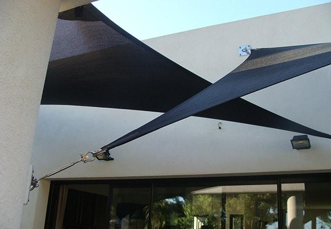 Voile protection solaire à Vallauris