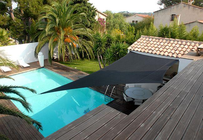 voile terrasse piscine Monte-Carlo