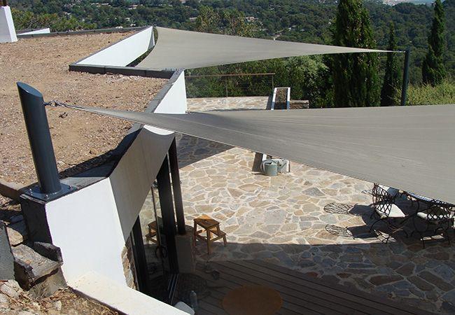 poteaux accastillage pour toiles ombrage Toulon