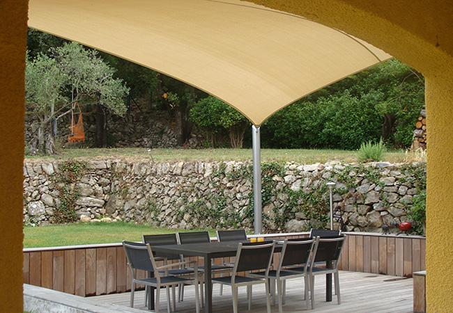 patio sun protection canvas in Sainte-Maxime