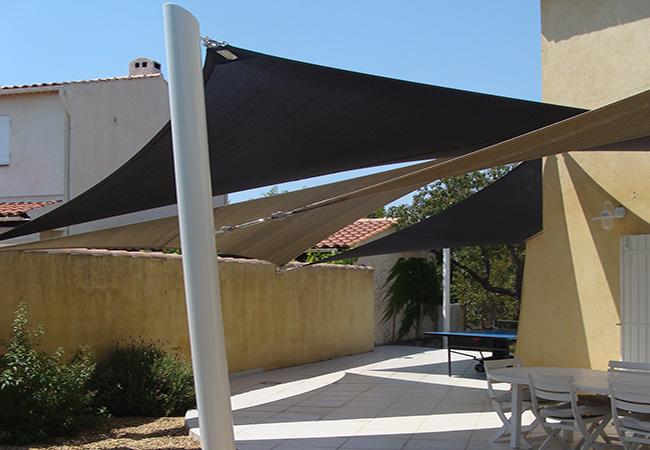 Patio shade design in Golfe-Juan, Hyères