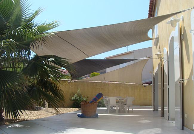 Sail cloth shade near La Londe-les-Maures