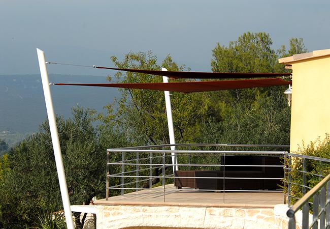 Shade sails patio, terrace Le Lavandou France