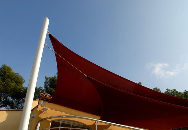 Weather proof sun sails in Juan-les-Pins, La Ciotat