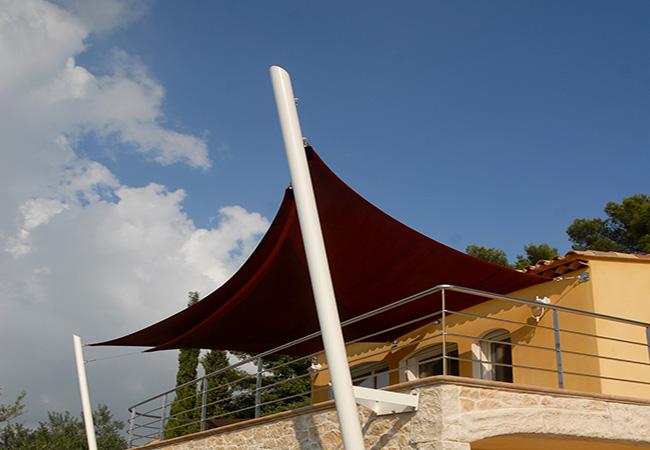shade sail post installation PACA region France